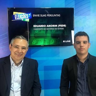 <p>O candidato a Governo do Estado, Eduardo Amorim (PSDB), esteve nos est&uacute;dios do Instituto Educar em live ao vivo pelo Facebook Live de Elei&ccedil;&otilde;es do Portal Infonet!</p>