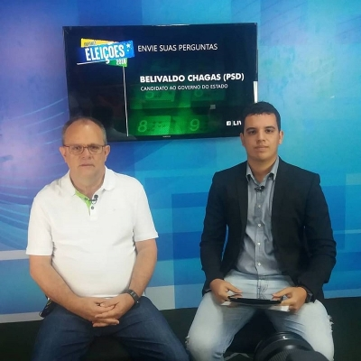 <p>No dia 30/08/2018, o governador do Estado de Sergipe, Belivaldo Chagas, candidato &agrave; reelei&ccedil;&atilde;o, esteve ao vivo nos nossos est&uacute;dios para uma Live pelo portal da Infonet.</p>