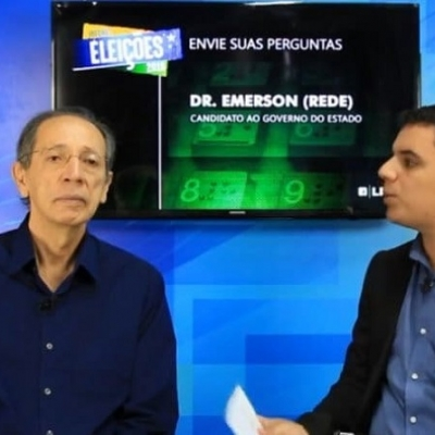 <p>O entrevistado foi o candidato a governador de Sergipe, Emerson Ferreira, da Rede Sustentatibilidade (Rede), direto do est&uacute;dio do Instituto Educar.</p>