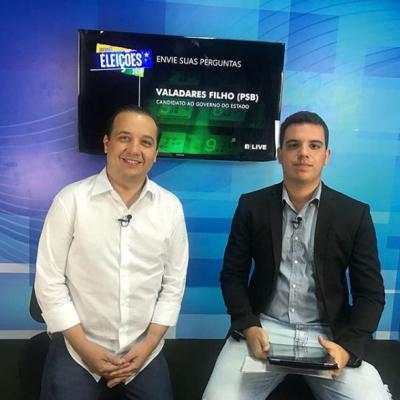 <p>O Portal Infonet com candidatos ao Governo do Estado, em parceria com o @institutoeducar foi a vez de Valadares Filho (PSB) explanar suas principais propostas para governar Sergipe.</p>